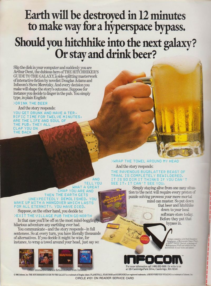 The Hitchhiker's Guide to the Galaxy original ad